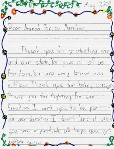 veteran thank you letters