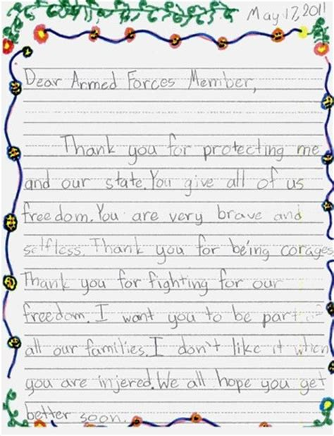 exle thank you letters thank you letters to veterans