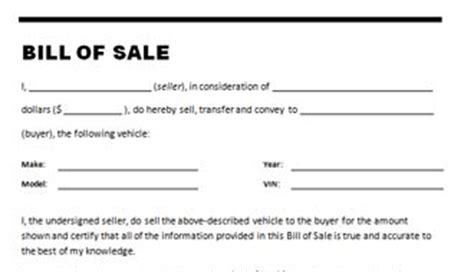 Car Bill Of Sale Template Auto Bill Of Sale Oklahoma Template