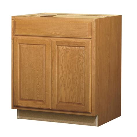Sink Base Kitchen Cabinet Shop Kitchen Classics Portland 30 In W X 35 In H X 23 75 In D Stained Wheat Sink Base Cabinet At
