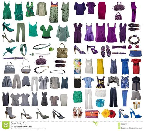 Collection Of Dress And Shoes Royalty Free Stock Photography   Image: 7905077
