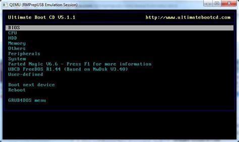 reset password windows xp ubcd 87 install the ultimate boot cd onto a usb drive rmprepusb