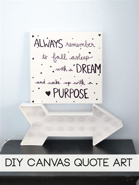 quotes on canvas wall decor quotesgram