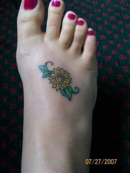 sunflower tattoo designs on foot 210 best images about ideas on tiny