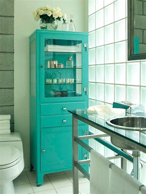 Vintage Bathroom Storage Ideas 36 Cool Turquoise Home D 233 Cor Ideas Digsdigs