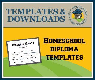 homeschool diploma template homeschool high school diploma templates