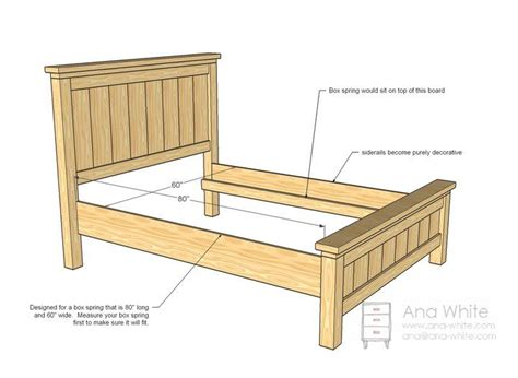 size bed headboard and footboard woodworking