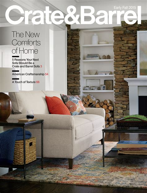 home decorating catalogs mail crate barrel august catalog 2015 page 1