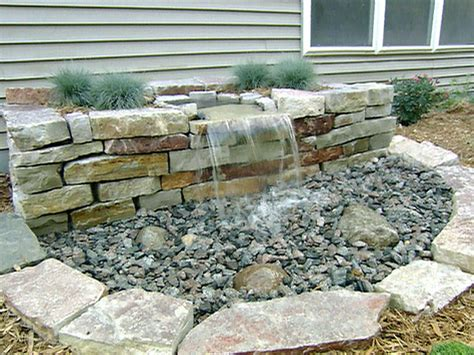 diy backyard waterfall diy front yard landscaping pondless waterfall joy studio