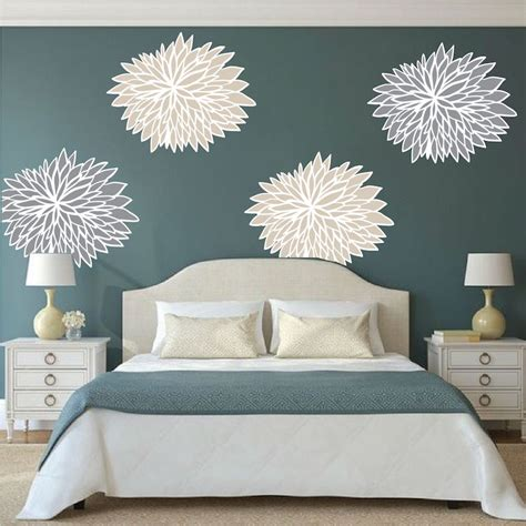 Wall Stickers For Bedroom bedroom flower wall decals floral wall decal murals
