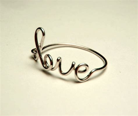 How To Make Handmade Rings With Wire - sterling silver wire ring handmade 20 custom