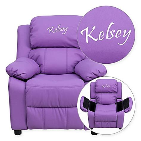 personalized kids recliner flash furniture personalized kids recliner in lavender