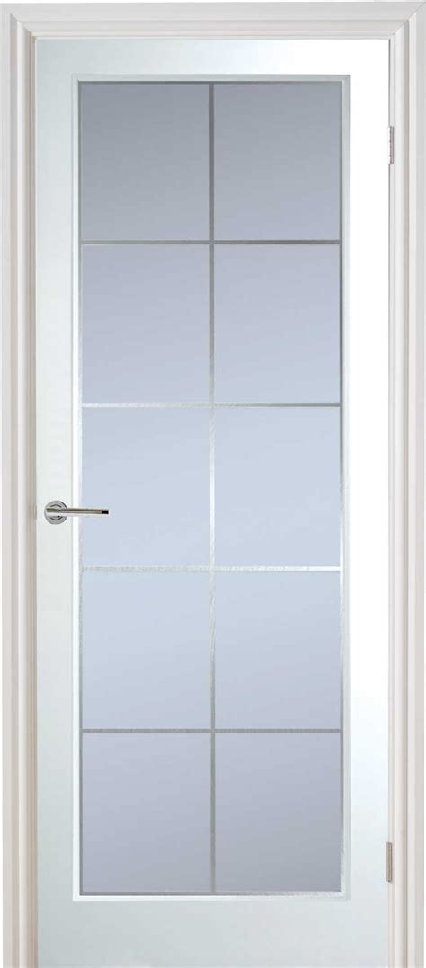 Manhattten Half Light Textured White Primed Door Half Lite Interior Door
