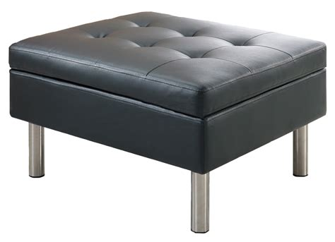 Black Ottoman Black Leather Ottoman Event Rental