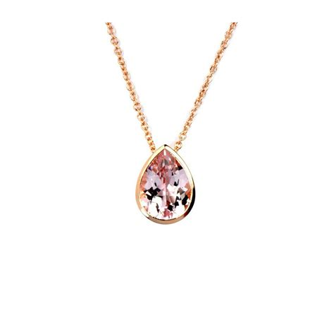 morganite drop pendant stonechat jewellers
