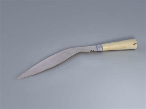 khukri blade blade tribe kukri 3d model