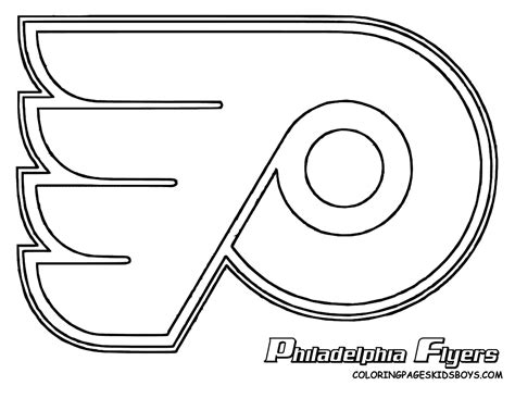 free coloring pages of philadelphia flyers