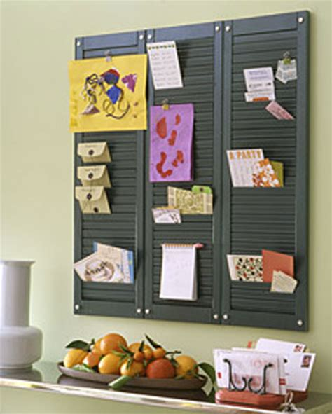 kitchen message board ideas home diy projects using shutters creative decorating