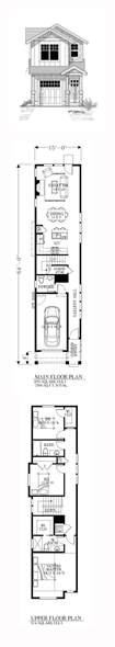 25 best ideas about narrow house plans on pinterest 2 bedroom open floor plan narrow lot house plans with