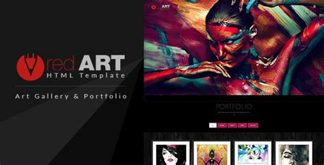 Red Art Html Portfolio Art Gallery Website Template By Buddhathemes Artist Web Template
