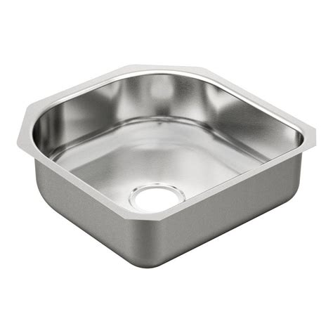 moen undermount bathroom sinks moen 2000 series undermount stainless steel 20 in single