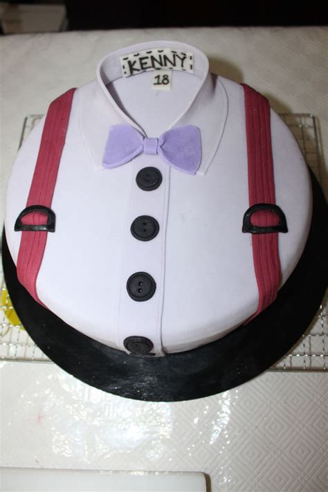 shirt with bow tie cake by kendra ly my creations