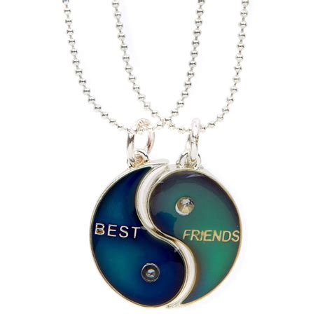 Where Can You Buy Claire Gift Cards - best friends yin yang mood pendant necklace claire s us