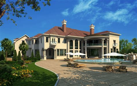 French Style Floor Plans by Luxury Mansion Designs Www Boyehomeplans Com