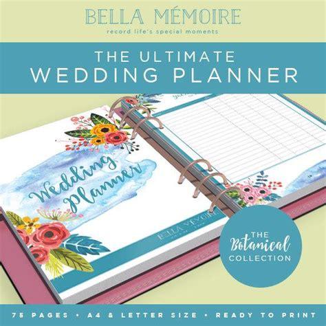 Wedding Organiser by Printable Wedding Planner Botanical Collection