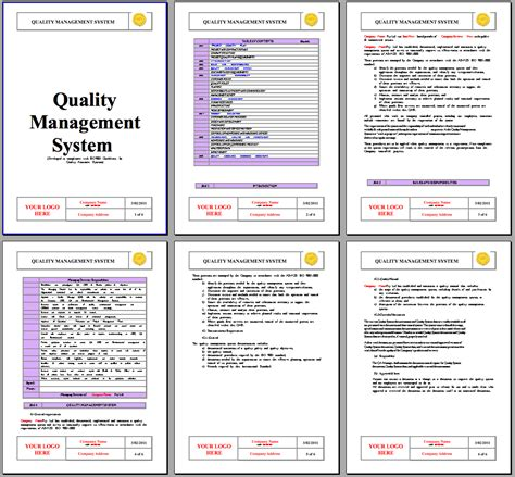 quality manual template quality assurance manual instant