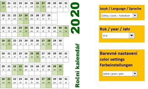 rocni kalendar  excel skoleni konzultace