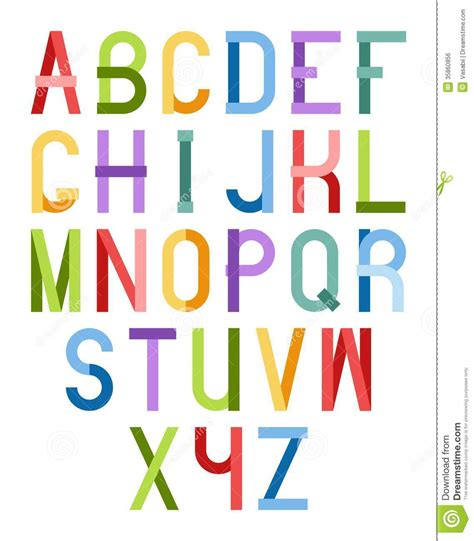 colorful fonts colorful font stock vector image of design element