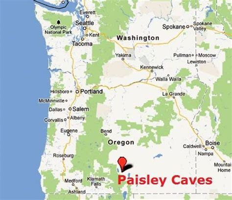 paisley oregon map south central oregon caves yield early human dna