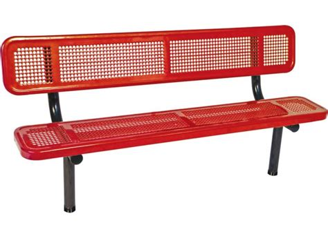 team bench 6 team bench with back perforated surface upb 720b