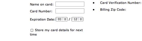 Credit Card Expiration Format Format The Expiration Date Fields Exactly As The Credit Card 40 Get It Wrong Articles