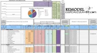 home renovation estimates home improvement spreadsheet home renovation budget