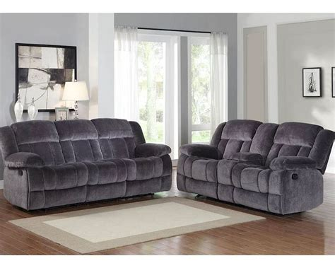 Reclining Sofa Set Charcoal Reclining Sofa Set Laurelton By Homelegance El 9636cc Set