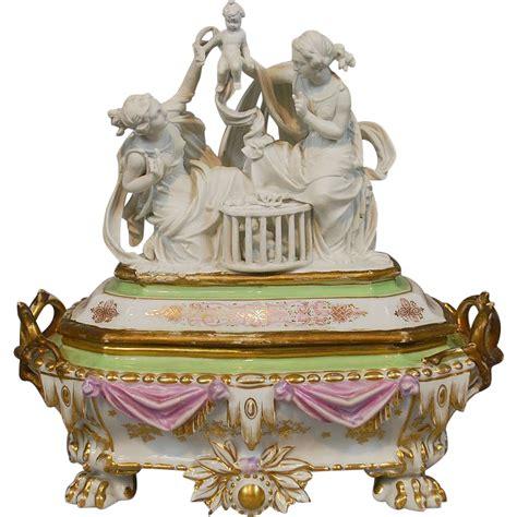 porcelain doll jewelry box antique porcelain jewelry box casket with parian