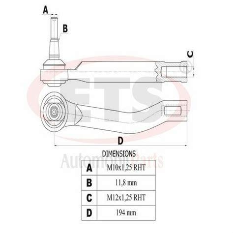 Tie Rod End Nissan Juke Rh Lh nissan juke f15 tie rod end rh details ets auto
