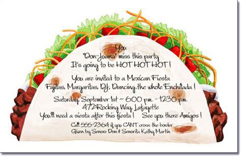 Taco Party Invitations Mexican Food Cinco De Mayo Invite Taco Invitation Template
