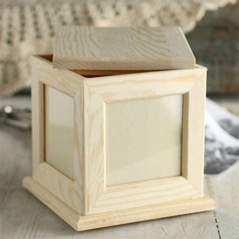 wooden craft kits for unfinished wood photo keepsake box wood craft kits