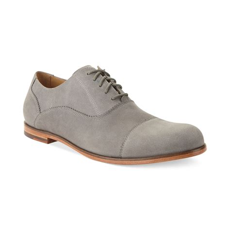 cole haan shoes cole haan edison captoe shoes in gray for ironstone
