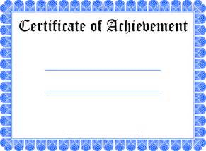 Certificate Of Achievement Template Free Certificate Of Achievement Templates Certificate Of