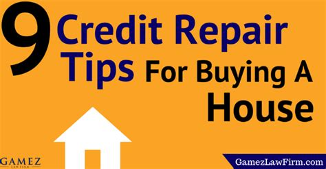 what credit score can buy a house 9 credit repair tips