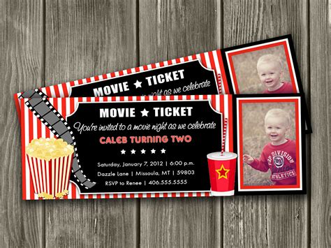 concert invitation card template ticket birthday invitations template free