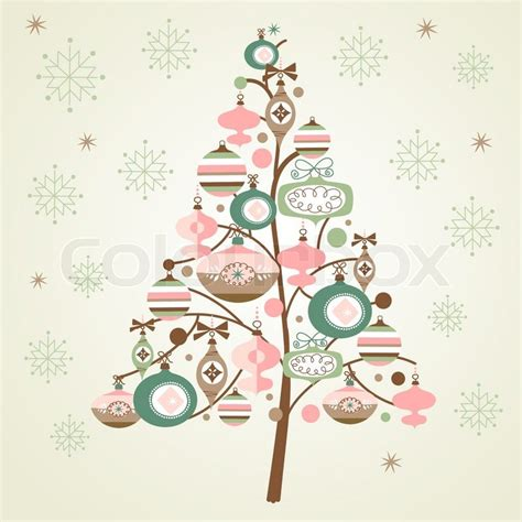 Home Design Credit Card cute christmas tree and snowflakes stock vector colourbox