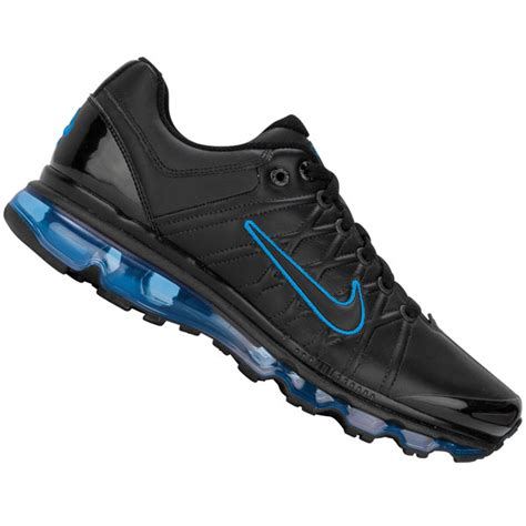 Nike Air Max 2009 Mens by Nike Air Max 2009 Leather Trainers Black Blue Mens Size Ebay