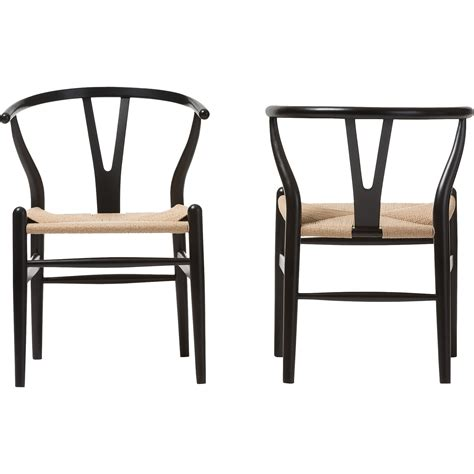 wishbone dining chair black wholesale interiors baxton studio wishbone dining y chair