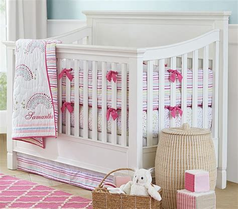 Rainbow Crib Bedding Rainbow Nursery Bedding Set Pottery Barn