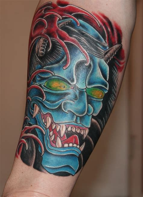 hannya mask tattoo colour meaning hannya mask tattoos pinterest masks